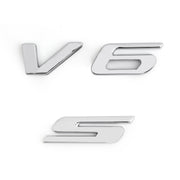 Car Styling Metal Letter V6 Car sticker Auto Rear Decal V6 Car Badge for Ford