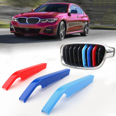 Kidney Grille M Sport 3Colour Cover Stripe Clips For BMW 3 Series G20 2019 & up