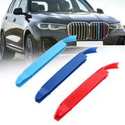 3PCS Front Grille Cover Insert Trim Clips Decal Trip For BMW X7 G07 2019