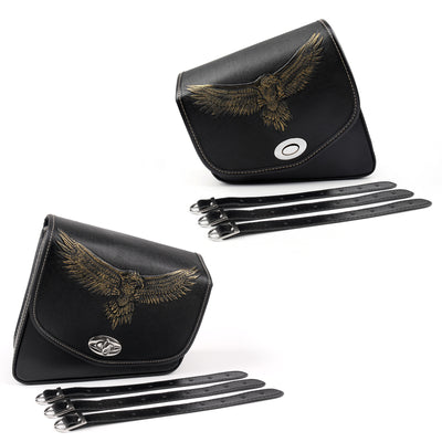 Leather Left/Right side Saddlebag Saddle Bag For Sportster XL 883 XL 1200