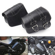 Motorcycle Saddlebags PU Leather Pouch Bag For Sportster XL 883 1200