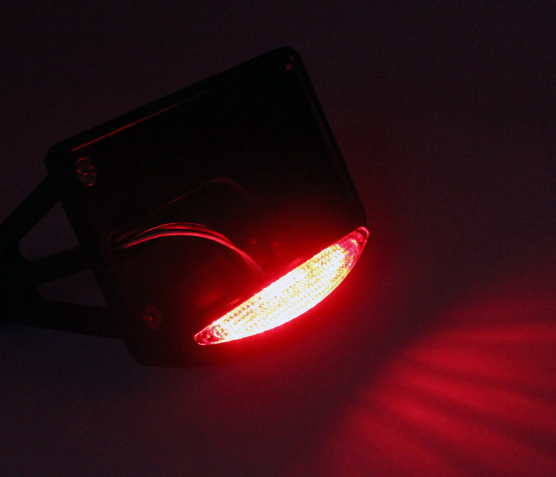 Side Mount License Plate LED Tail Brake Light For Harley Customs Choppers Generic