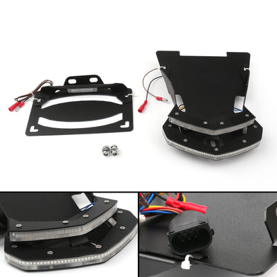 Black License Plate Holder Rear Tail Light Bracket For BMW R NINT T 2013-2017
