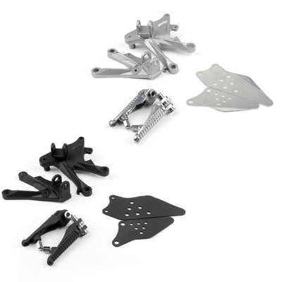 Front Rider Footrest Foot Pegs Brackets Set For Kawasaki ZX-10R 2006-2010