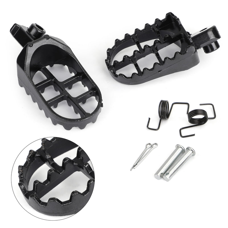 1 Pair Front Footpegs Footrests Foot Peg For Yamaha TW200 PW50 PW80 all years Black Generic