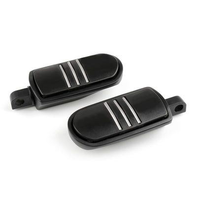 StreamLiner FootPegs Footrest For Harley Electra Street Glide Road King Black