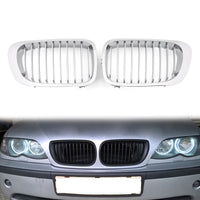 Front Fence Grill Grille ABS Gloss Black Mesh For BMW E46 2D (1999-2002) 3 Series
