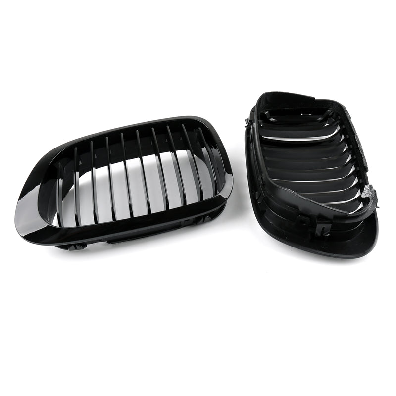 Fence Grill Grille ABS M Color Gloss Black Mesh For BMW E46 2D 99-22 3 Series