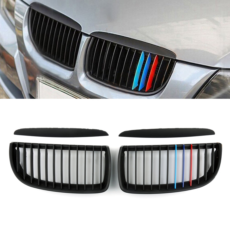 Kidney Grill Mesh Grille Fit For BMW E90 3 Series Sedan (2005-2008) 2 Color Generic