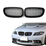 Matte Black Front Kidney Grill Mesh Grille Nose For BMW E90 E91 LCI 2009-2012