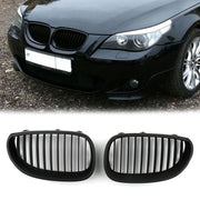 Matt Black Front Grille / Front Kidney Grill For 2003-2010 BMW E60 E61 5 Series