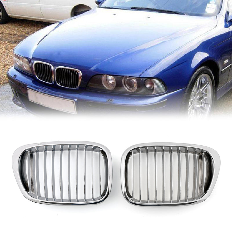 Chrome Front Kidney Grill Mesh Grille For BMW E39 (1995-2003) Generic