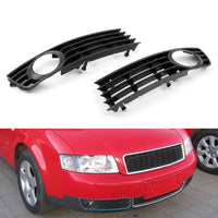 2 Pcs Low Bumper Fog Light Lamp Grille Grill Cover For Audi A4 B6 (2002-2005)