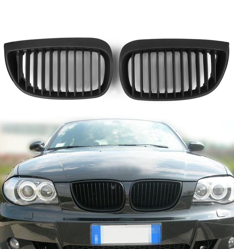 Kidney Grill Grille Matt Black For BMW E81 E87 Sport 1 Series (2004-2007) Generic