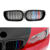 Front Kidney Grille Double Rib For BMW E46 3 Series 4 Door (2002-2005) 3 Colors