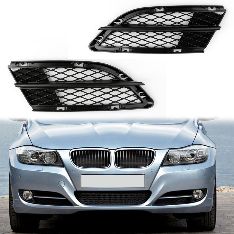 Car Lower Front Mesh Grille Grills Left Side For BMW 3-Series E90 E91 (2009-2012) Generic