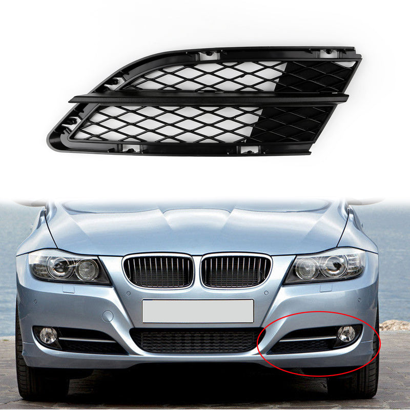 Car Lower Front Mesh Grille Grills Left Side For BMW 3-Series E90 E91 (2009-2012)