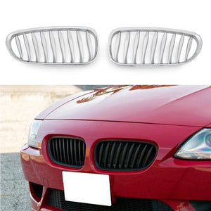 Front Fence Grill Grille ABS Carbon Fiber For BMW Z4 E85 E86 23-28