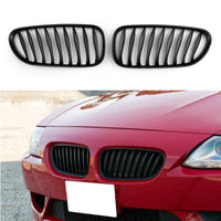 2x Front Bumper Sport Kidney Grille Grill For BMW Z4 E85 E86 2003-2008
