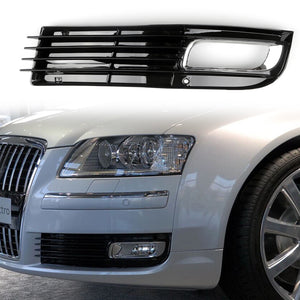 ABS Car Lower Bumper Grille Fog Light Grill w/Chromed For Audi A8 D3 08-10 Right