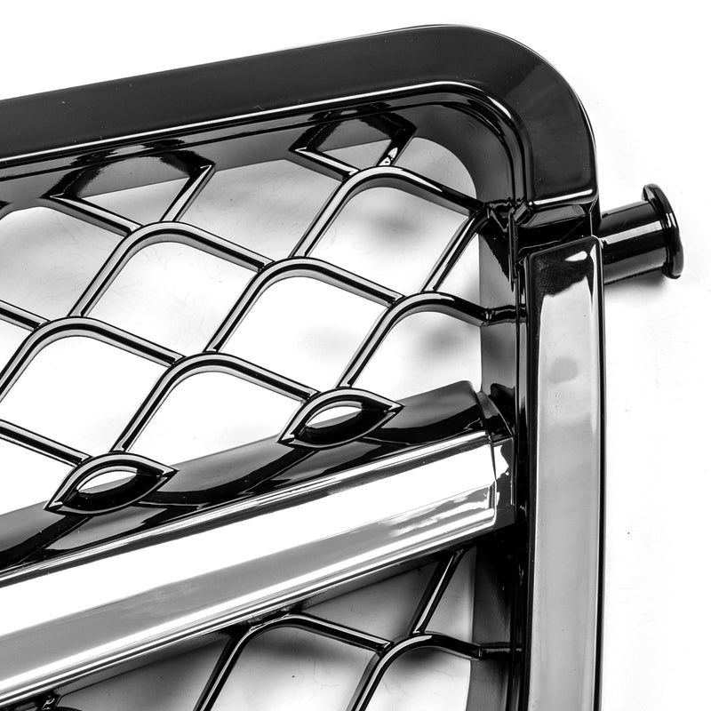 Grille For Benz 2008-2014 W204 C-Class C300 C350 ABS Gloss Chrome Generic