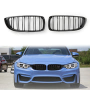 Kidney Grille Dual Slat M4 Sport Grill For BMW F32 F33 F36 F82 (2014+) Gloss Black