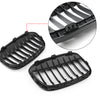 New Pair Front Kidney Grille Grill For BMW 2016+ F48 F49 X1 X-Series Black