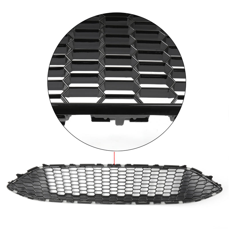 Front Bumper Grille ABS Gloss Black Honeycomb For Ford Focus (2015-16) Generic