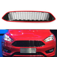 Front Bumper Grille ABS Gloss Black Honeycomb For Ford Focus (2015-16)