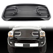 Big Horn Black Packaged Grille + Shell Replacement For 2013-2018 Dodge Ram 1500