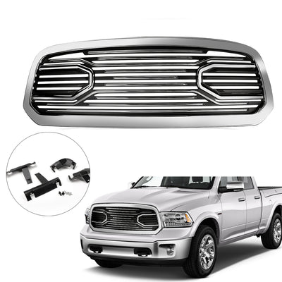 For 26-29 Dodge RAM 25/35 Big Horn Chrome Front Package Grille + Shell
