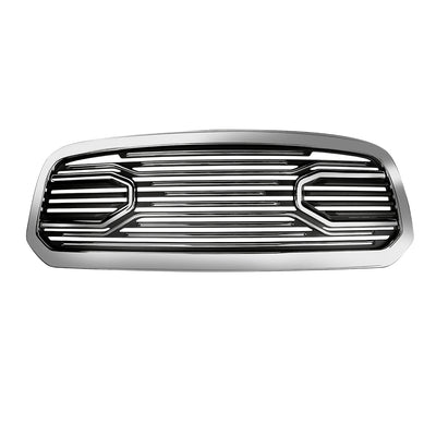 Big Horn Chrome Packaged Grille+ Chrome Shell For 2013-2018 Ram 1500 Generic