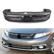 SI Style Front Conversion Bumper Grille For 2012 Honda Civic Sedan 4Doors Black