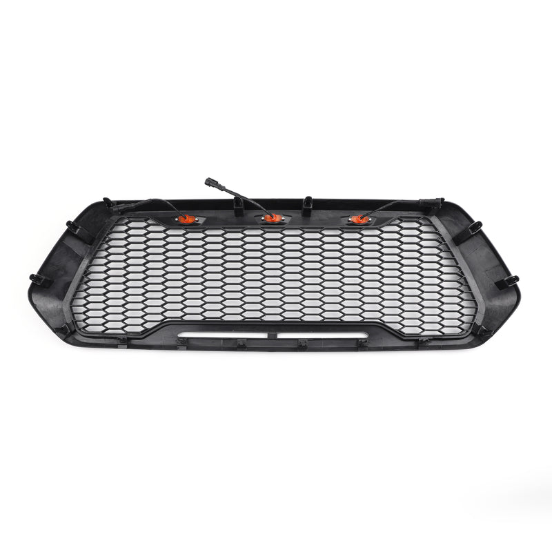 Raptor Style ABS Mesh Grille For 2016-2019 Tacoma With 3 Amber LED Lights Generic