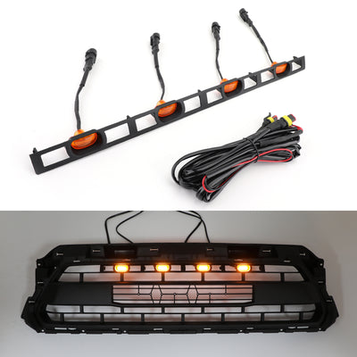 4X Front Bumper Hood Grille LED Lights For Tacoma 2012-2015