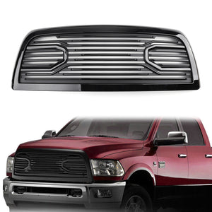 Big Horn Black Packaged Grille Replacement Shell For 10-18 Dodge RAM 2500/3500