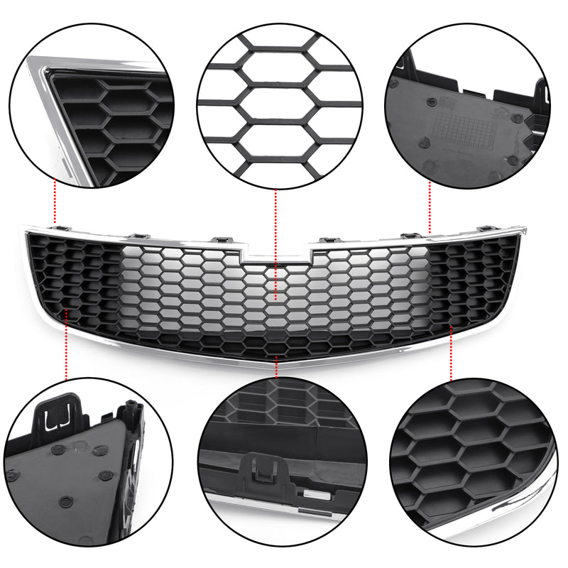 1PC Front Lower Bumper Grille Grill Inserts Trim Covers For 09-14 Chevy Cruze Generic