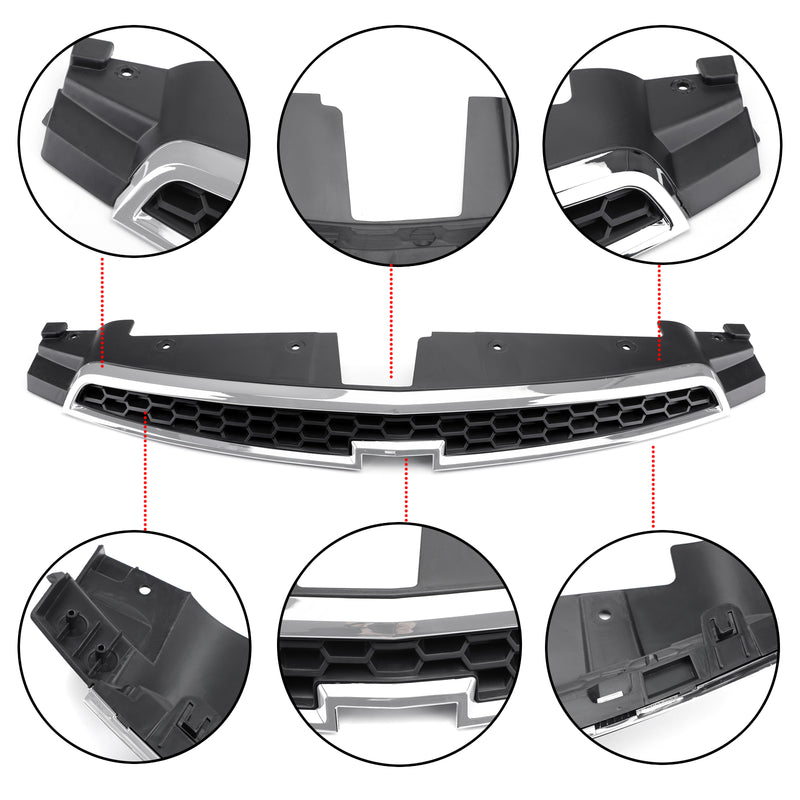 1PC Front Upper Grill Inserts Trim Covers For 09-14 Chevy Cruze Grille Overlay Generic