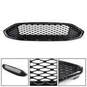 Front Bumper Grille Honeycomb Trim Gloss Black Grille For 2017-2018 Fusion