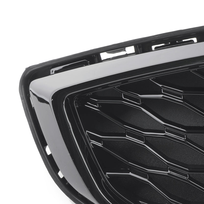 Front Bumper Grille Honeycomb Trim Gloss Black Grille For 2017-2018 Fusion Generic
