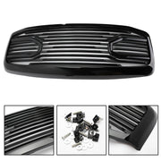 Front Black Big Horn Grille+Replacement Shell For 2006-2009 Dodge RAM 2500+3500