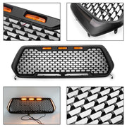 Front Honeycomb Mesh Grill + LED Turn Signal Light&Day Light For Tacoma 16-2019