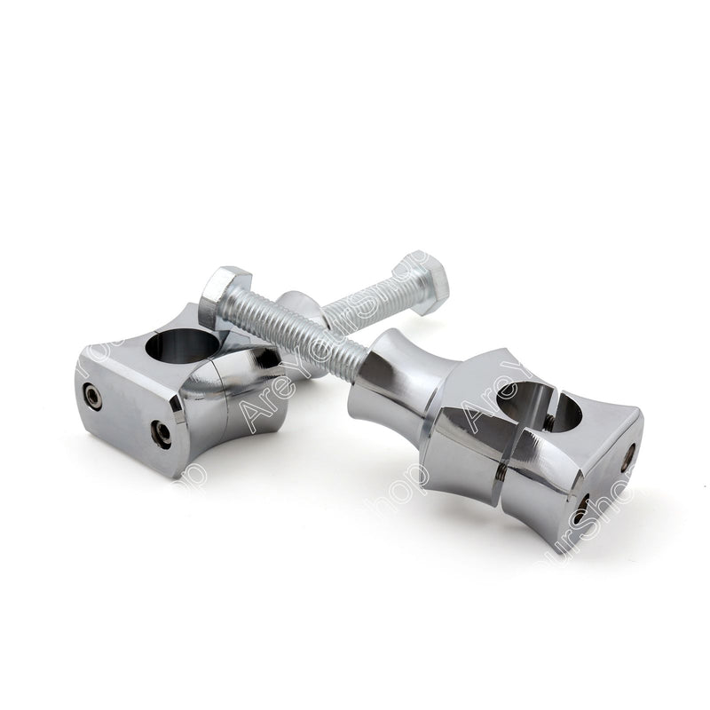 1 25mm Handlebar Risers Clamp For Harley Fat Boy Dyna Sportster Touring Generic
