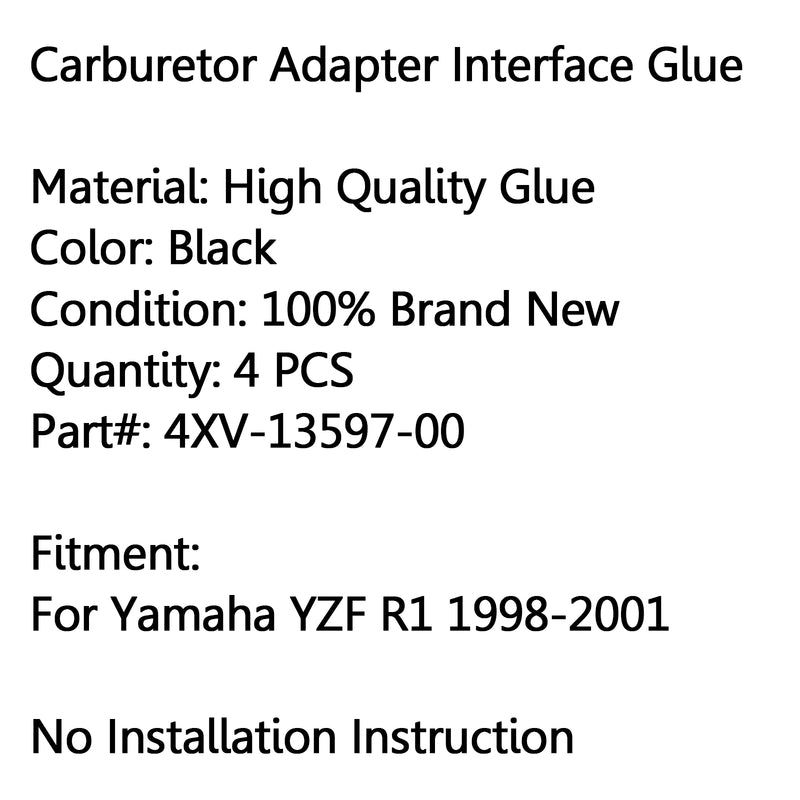 Intake Carburetor Interface Glue Air Joint For Yamaha YZF