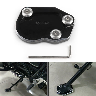 Side Pad Kickstand Stand Extension Plate For BMW R1200 NINE T 2014 2015 2016