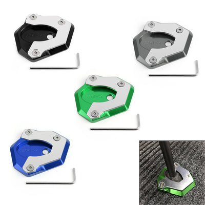 Motorcycle Kickstand Side Stand Foot Pad For Kawasaki Z650 Z900 2017
