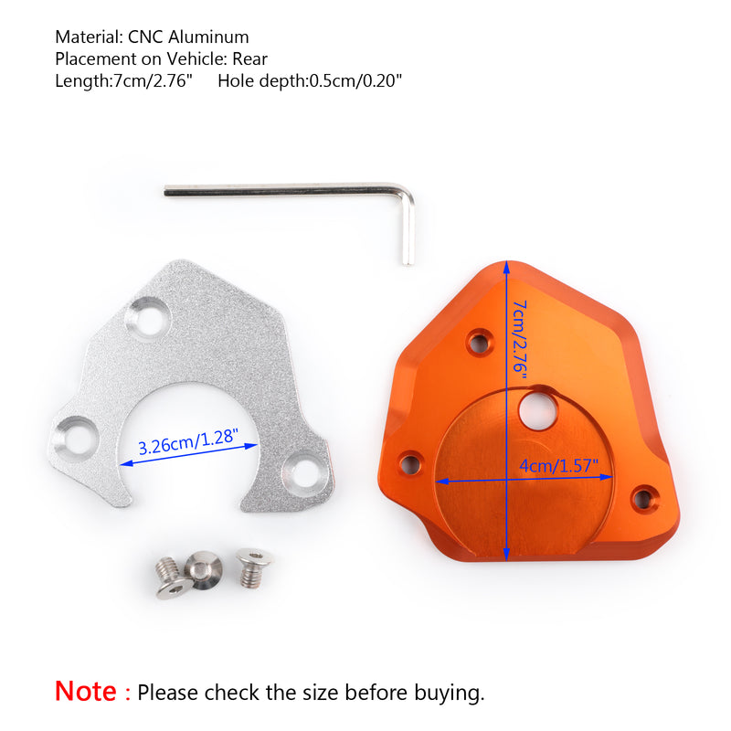 CNC Side Stand Kickstand Extension Pad for KTM 990 1190 690 Duke 125 250 390 Generic