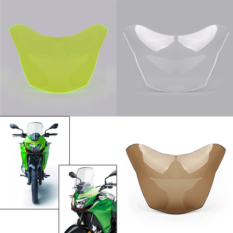 Front Headlight Screen Guard Lens Cover For Kawasaki VERSYS-X300 2017