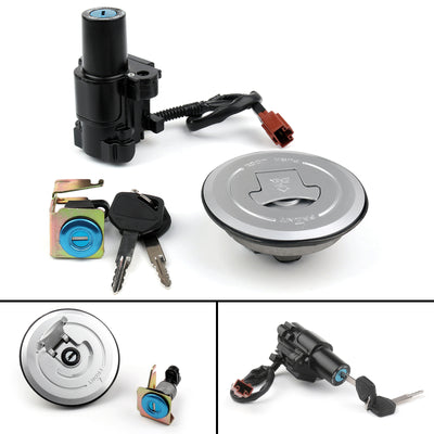 Ignition Switch Fuel Gas Cap Cover Key Lock Set For Honda CB500 F/R/X CBR500R/RA