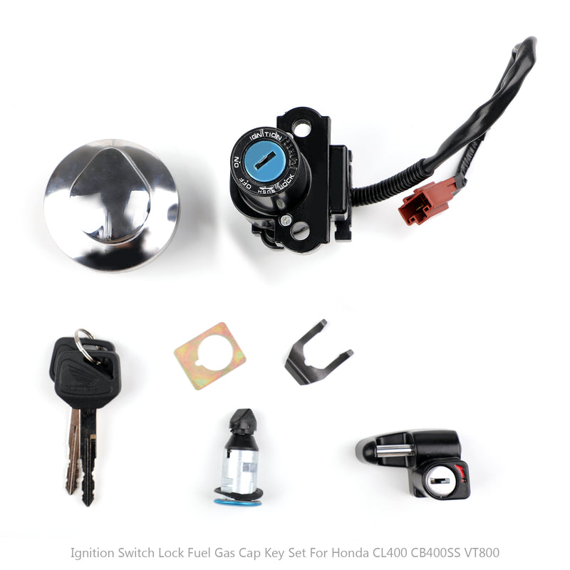 Ignition Switch Fuel Gas Cap Seat Lock Key For Honda CL4 CB4SS CA25 CMX45